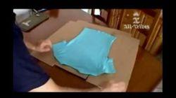 Piegare una t-shirt in 3 mosse?