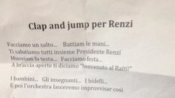 Matteo Renzi a Siracusa, i bambini cantano: