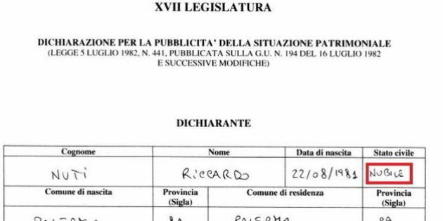 I deputati grillini e lo stato civile nelle dichiarazioni patrimoniali. Gaffe di Riccardo Nuti