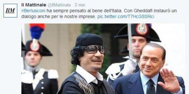 Il Mattinale celebra Silvio Berlusconi: il rapporto con Gheddafi tra i vanti dell'ex premier