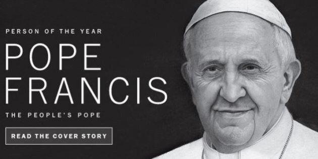 Papa Francesco è Persona dell'anno di Time 2013