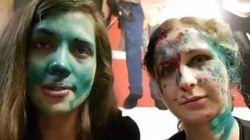 Pussy Riot aggredite al volto