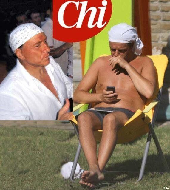 Metteo Renzi con la bandana, in vacanza come Silvio Berlusconi col fazzoletto da premier