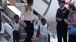 Boschi torna in Italia con i 31 bambini congolesi adottati