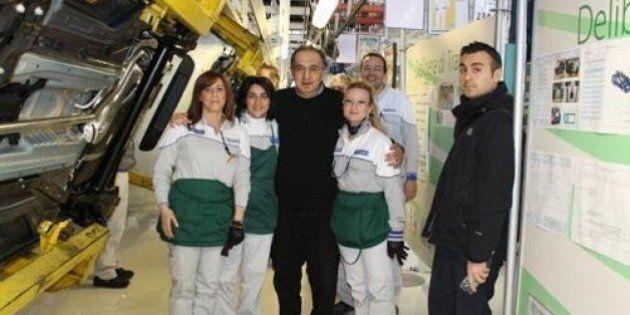 Sergio Marchionne passa in rassegna gli stabilimenti Fiat nel centro-sud Italia. Blitz a Melfi, Pratola...