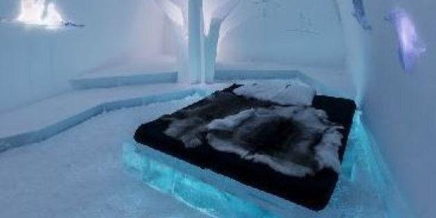 Elmar Regele, il falegname che ha scolpito nel ghiaccio le suite artistiche dell'Ice Hotel