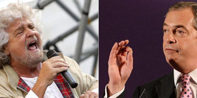 Beppe Grillo a Bruxelles per incontrare Nigel Farage. Il leader dell'Ukip: