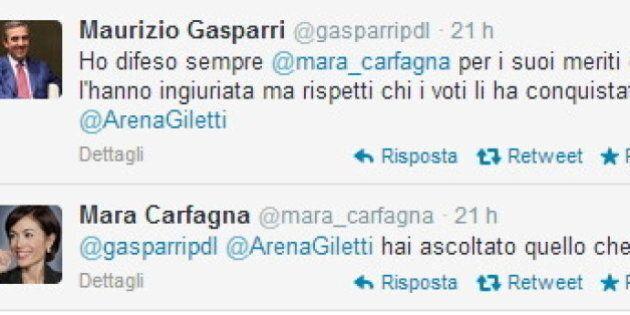 Quote rosa nell'Italicum, lite tra Mara Carfagna e Maurizio Gasparri su twitter: