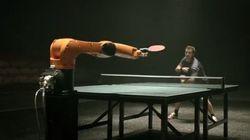 Uomo vs robot a ping pong. Chi vincerà?