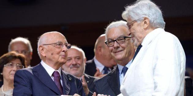 Festival di Venezia, Giorgio Napolitano accolto dagli applausi al Lido. Era presente al film di Ettore...