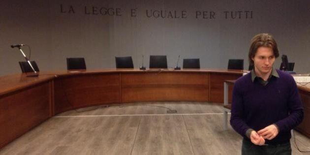 Sentenza processo Meredith, Raffaele Sollecito in aula in attesa del verdetto della Corte d'assise d'Appello...