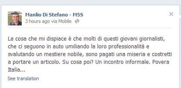 Beppe Grillo incontra i parlamentari Movimento 5 stelle in una riunione segreta. Al centro la linea di...
