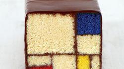 Torta Mondrian e toast alla