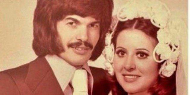 FOTO matrimonio Antonio Razzi. Baffoni e capelli lunghi in stile
