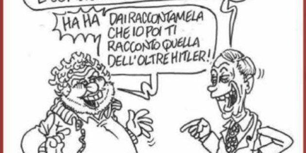 Blog Beppe Grillo, Vauro vignettista del giorno per il disegno che ritrae il leader M5s con Nigel Farage