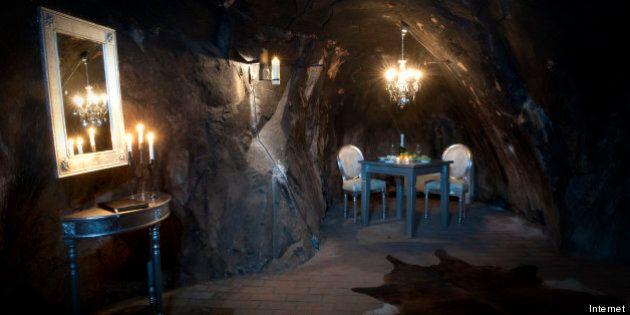 Sala Silvermine: la suite dell'hotel di Stoccolma è una miniera. Si trova a 155 metri di profondità.