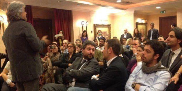Beppe Grillo a Roma calma i suoi: