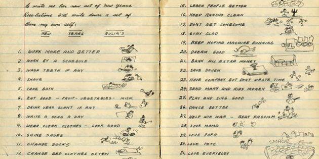 Marilyn Monroe, Charles Darwin, Ernest Hemingway. Le 'liste' di propositi dei personaggi famosi