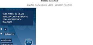 Quirinale: Micaela Biancofiore dedica un sito a Silvio Berlusconi: