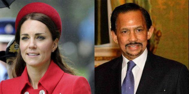 Kate Middleton al matrimonio del cugino nell'hotel del Sultano del Brunei omofobo.Tutti lo boicottano...