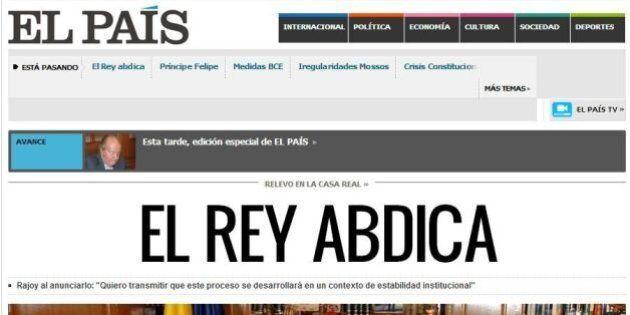 Re Juan Carlos di Spagna abdica in favore del figlio Felipe: la notizia sui siti di tutto il mondo