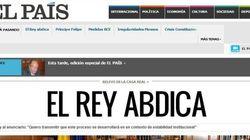 Il re di Spagna abdica: la notizia sui siti di tutto il mondo