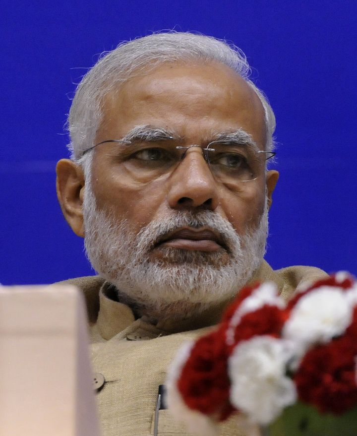 """Prime Minister Narendra Modi at the 10th Annual Convocation of Central Information Commission (CIC) at Vigyan Bhavan in New Delhi. At the inauguration of the CIC's new building in March 2018, Modi said, """"Transparency and accountability are very essential for democratic and participative governance."""" and institutions like the CIC work as a """"catalyst for trust based governance""""."""