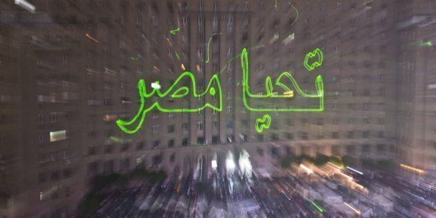 Egitto: raggi laser a piazza Tahrir, il nuovo linguaggio delle proteste (FOTO,