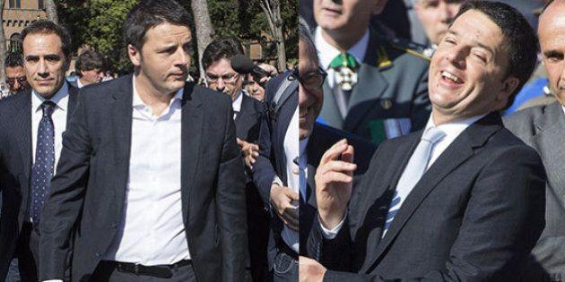 Matteo Renzi senza cravatta alle celebrazioni del 25 aprile, poi la mette per salutare Giorgio Napolitano