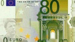 La banconota da 80 euro con Renzi e la vendita di