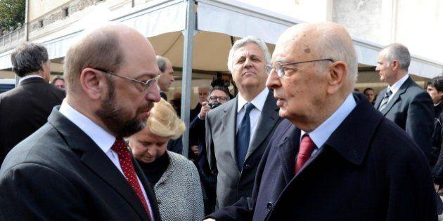 Giorgio Napolitano parla al Parlamento Europeo: