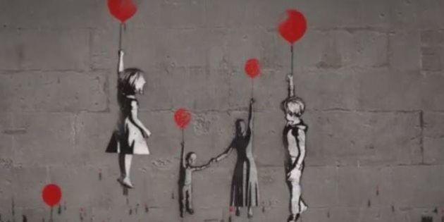 Siria, in tre anni di guerra civile oltre nove milioni di profughi. Il video di Banksy dedicato ai piccoli