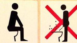 A Sochi spuntano le istruzioni per usare il bagno.