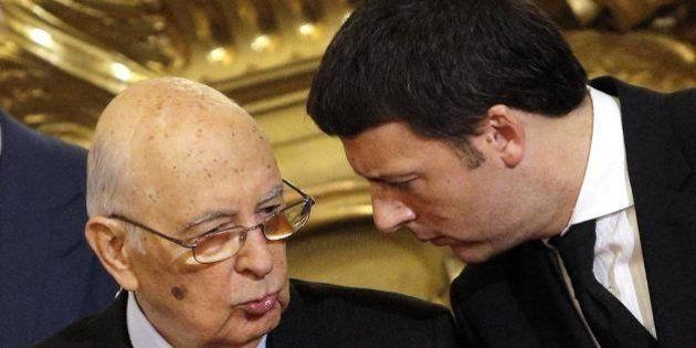 Matteo Renzi al Quirinale da Giorgio Napolitano. Un'ora e mezza di colloquio sulle