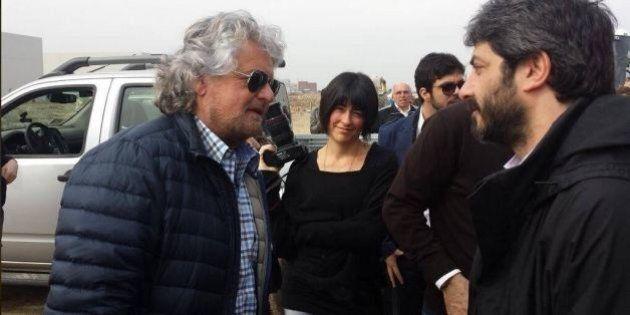 Beppe Grillo a Milano in visita ai cantieri Expo 2015 (TWEET,