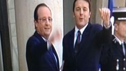 Renzi da Hollande all'Eliseo