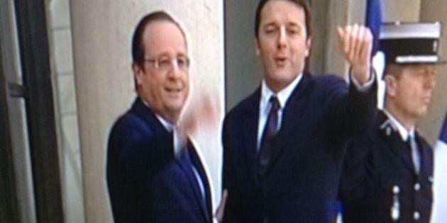 Matteo Renzi da Francois Hollande, l'Eliseo: