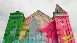 Washington, la chiesa abbandonata diventa un graffito