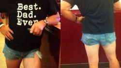 Indossa gli shorts della figlia per darle una lezione. La sua foto su tutti i media