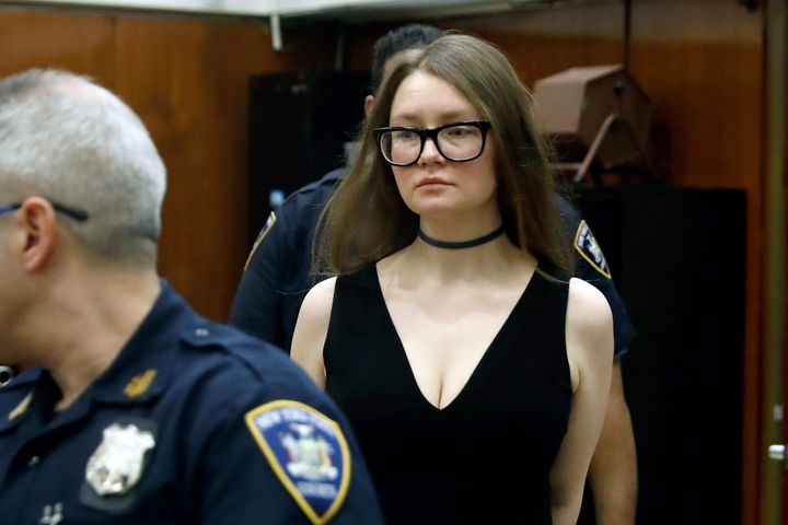 Anna Delvey arrives in New York State Supreme Court on March 27 for her trial on grand larceny charges.