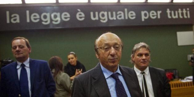 Calciopoli, Luciano Moggi condannato a due anni e quattro