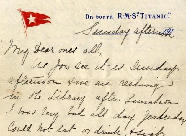 Titanic, l'ultima lettera venduta all'asta per 145 mila euro. Esther Hart scriveva:
