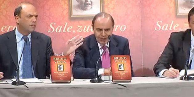 Matteo Renzi Angelino Alfano partecipano alla presentazione del libro di