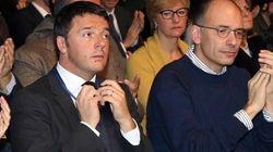 Renzi e Letta alla direzione del Pd (LA