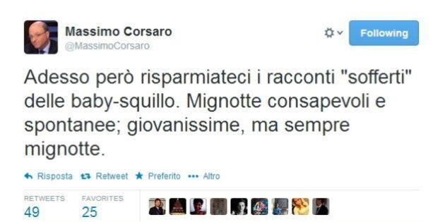 Baby squillo, Massimo Corsaro di Fratelli d'Italia su twitter: