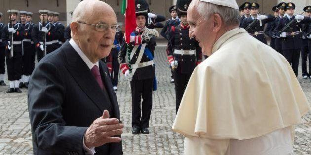 Papa Francesco e Giorgio Napolitano: l'Italia dei due