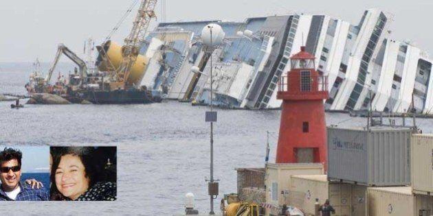 Rotazione Costa Concordia. I corpi dei due dispersi, Russell Rebello e Maria Grazia Trecarichi, potrebbero