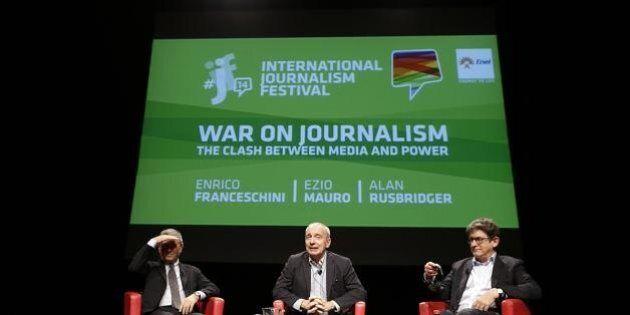 #ijf14: Ezio Mauro, Rusbridger, Greenwald e Snowden. Su che fronte siamo
