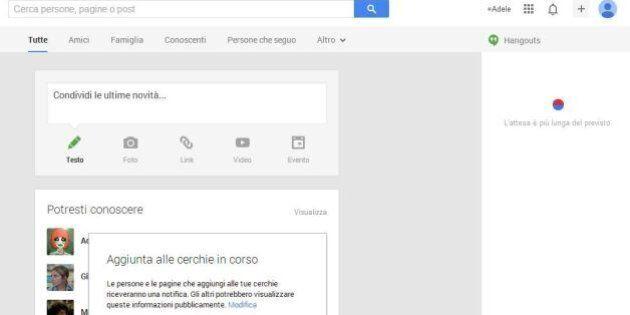 La chat di Gmail non funziona. G Talk e Hangouts di Google+ sono down