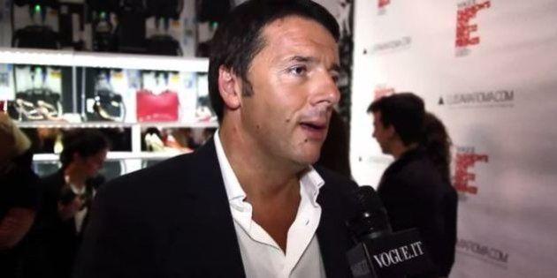 La Vogue Fashion Night di Matteo Renzi. Il sindaco di Firenze in versione glamour tra modelle e